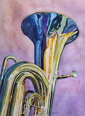 Tuba Painting - Umpa Rainbow by Jenny Armitage