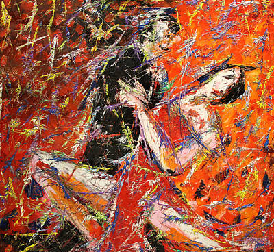 Quadri Painting - Un Tango A Colori by Enrico Nicodemo