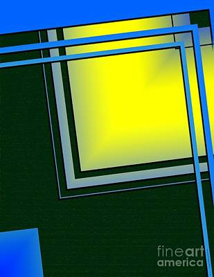 Abstract Digital Art - Unbalanced Geometric Art by Mario Perez