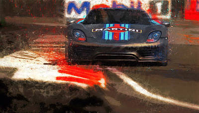 Martini Mixed Media - Unleashed by Alan Greene