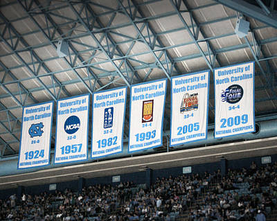Tar Photograph - Unc-ch Championship Banners by Orange Cat Art