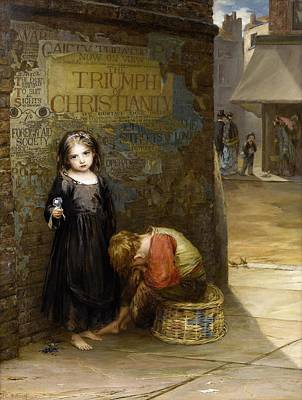 Uncared For  Print by Augustus Edwin Mulready