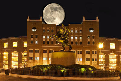 Unconquered Doak Campbell Full Moon Print by Frank Feliciano