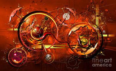 Clockwork Orange Digital Art - Uncontrolled Reality by Franziskus Pfleghart