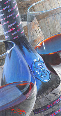 Wine Glass Painting - Uncorked II by Will Enns