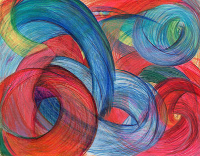 Action Drawing - Uncovered Curves by Kelly K H B