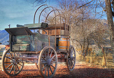 Uncovered Wagon Print by Donna Kennedy