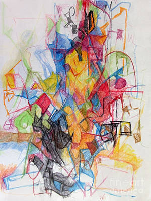 Creativity Drawing - Uncovering Alternative Solution 1 by David Baruch Wolk