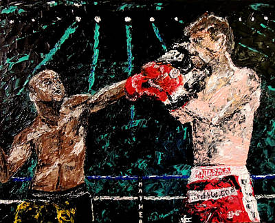 Undefeated - Floyd Mayweather Jr  Print by Mark Moore