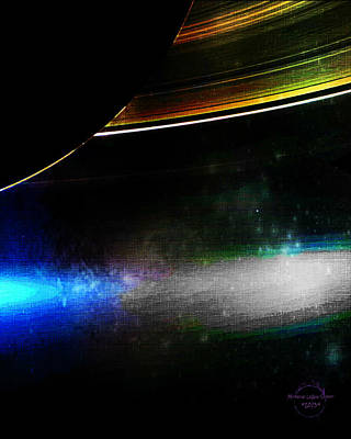 Cronos Digital Art - Under Saturn's Rings by Absinthe Art By Michelle LeAnn Scott