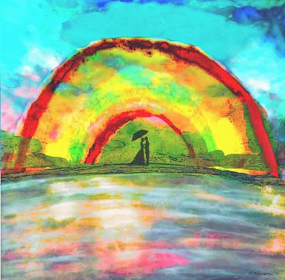 Under The Archway Print by Melissa Osborne