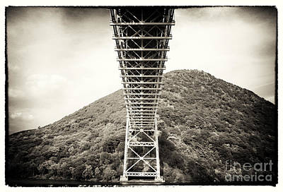 Hudson River School Photograph - Under The Bear Mountain Bridge by John Rizzuto