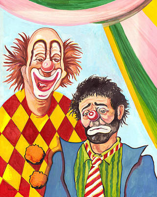 Fancifullart Painting - Under The Big Top by Peter Melonas
