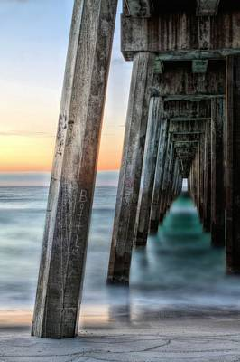 Pensacola Beach Photograph - Under The Boardwalk by JC Findley