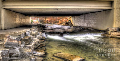 Under The Bridge In Rochester Print by Twenty Two North Photography