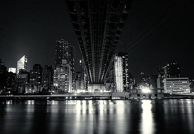Skylines Photograph - Under The Bridge - New York City Skyline And 59th Street Bridge by Vivienne Gucwa