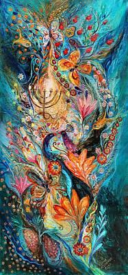 Limited Edition Painting - Under The Light Of Menorah by Elena Kotliarker