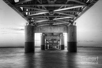 Mackinac Photograph - Under The Mackinac Bridge by Twenty Two North Photography