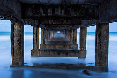 Marine Way Bridge Photograph - Under The Old Bridge For Boat Fishing by Kannapon Phakdeesettakun