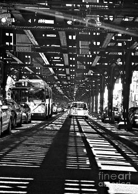 Train Tracks Photograph - Under The One Train In The Bronx by Sarah Loft
