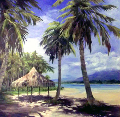 Painting - Under The Palms by Tina Bohlman