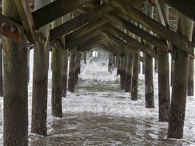 Under The Pawleys Island Pier Print by Sandra Anderson