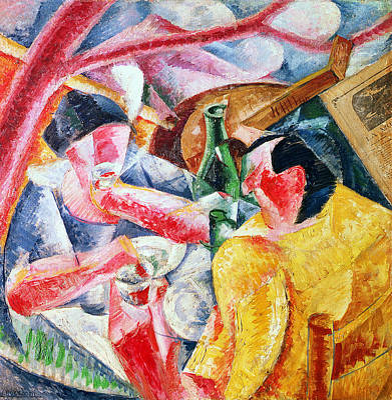 Umberto Painting - Under The Pergola At Naples by Umberto Boccioni
