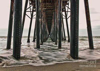 Under The Pier Print by Eddie Yerkish