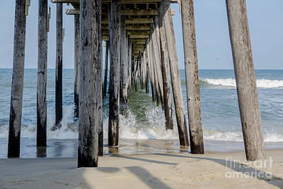 Under The Pier Print by Kay Pickens