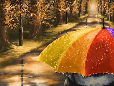 Under The Rain Print by Veronica Minozzi