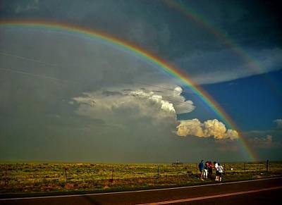 Somewhere Higher Photograph - Under The Rainbow by Ed Sweeney