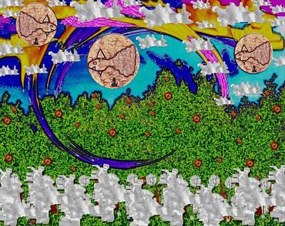 Onion Mixed Media - Under The Rainbow Pop Art by Pepita Selles