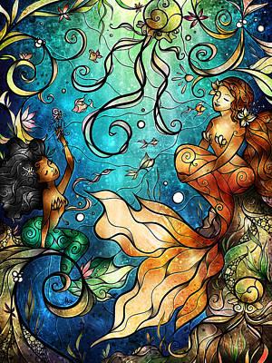 Mermaid Digital Art - Under The Sea by Mandie Manzano