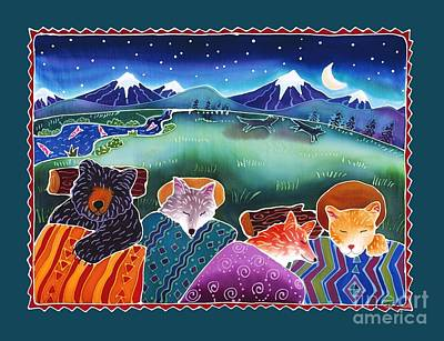 Coyote Painting - Under The Stars by Harriet Peck Taylor