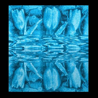Under The Water Is Tulips Print by Pepita Selles