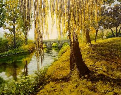 Under The Willow Print by Svetla Dimitrova