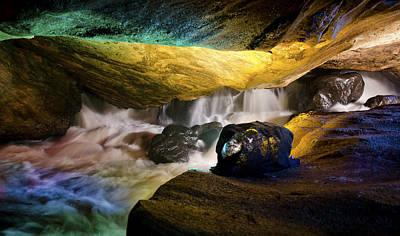 Underground Waterfall 2 Print by Mark Papke