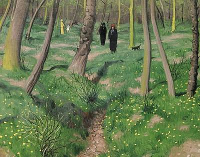 Undergrowth In Spring Print by Felix Edouard Vallotton