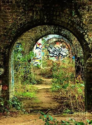 Underneath The Railway Arches Print by C Lythgo