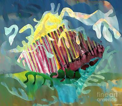 Avant Garde Mixed Media - Undersea Still Life by Sarah Loft