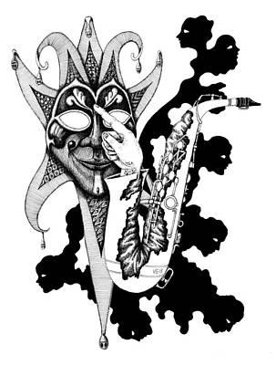 Concept Art Inks Drawing - Understanding Music by Vitaliy Gonikman