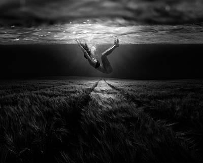 Floating Girl Photograph - Underwaterlandream by Peter Majkut