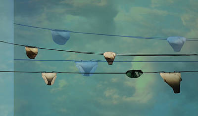 Underwear On A Washing Line  Print by Jasna Buncic