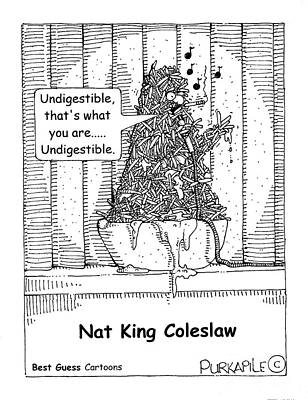 Nats Drawing - Undigestible by Allen Purkapile