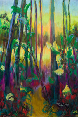 Unexpected Path - Through The Woods Print by Talya Johnson