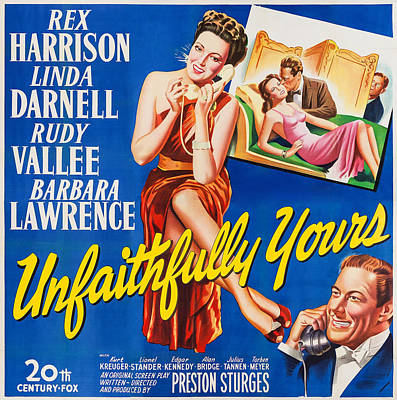 Sturges Photograph - Unfaithfully Yours, Us Poster by Everett