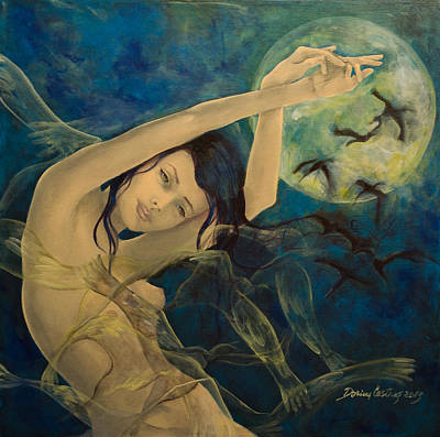 Dreams Painting - Unfinished Song by Dorina  Costras