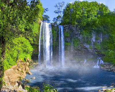 Unforgettable Waterfalls Of Chiapas Mexico Print by Mark E Tisdale