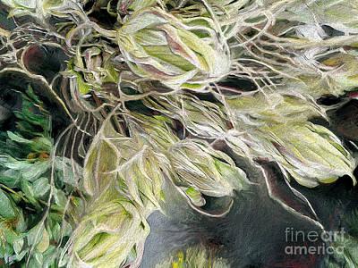 Artichoke Digital Art - Unfurling by CR Leyland
