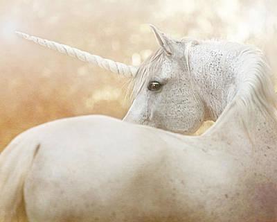 Mixed Media - Unicorn Of Narnia by Pamela Hagedoorn
